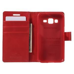Moonleather PU kožené pouzdro na Samsung Galaxy Core Prime - červené - 4