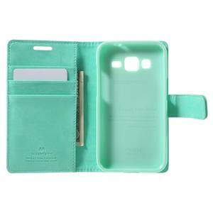 Moonleather PU kožené puzdro pre Samsung Galaxy Core Prime - azúrové - 4