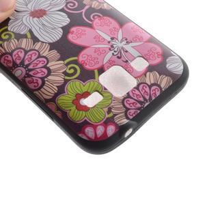 Hardy gélový obal pre mobil Samsung Galaxy Core Prime - kvetinová koláž - 4