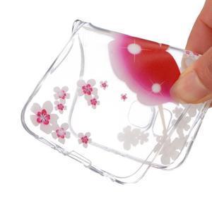 Transparentní gelový obal na Samsung Galaxy Core Prime - květinová dívka - 4