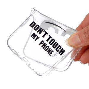 Transparentný gélový obal pre Samsung Galaxy Core Prime - nedotýkať sa - 4