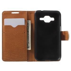 Horse PU kožené puzdro pre mobil Samsung Galaxy Core Prime - biele - 4