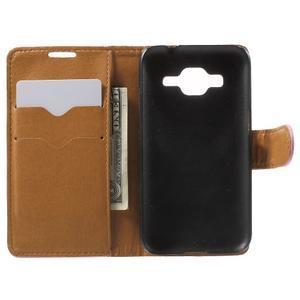 Horse PU kožené puzdro pre mobil Samsung Galaxy Core Prime - ružové - 4