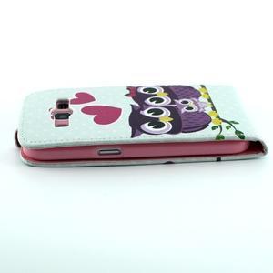 Flipové puzdro pre mobil Samsung Galaxy Core Prime - zamilované sovy - 4