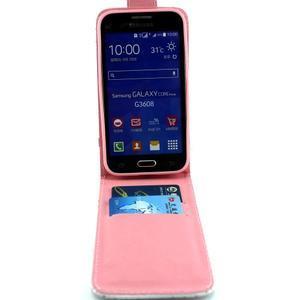 Flipové puzdro pre mobil Samsung Galaxy Core Prime - kvety - 4
