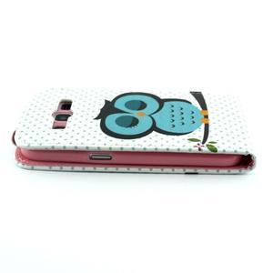 Flipové puzdro pre mobil Samsung Galaxy Core Prime - sova - 4