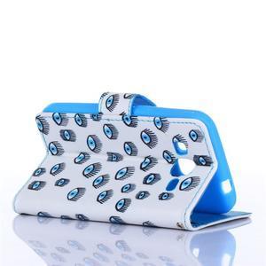 Standy peněženkové pouzdro na Samsung Galaxy Core Prime - modrá očka - 4