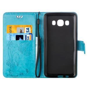 Magicfly PU kožené pouzdro na mobil Samsung Galaxy J1 (2016) - modré - 4