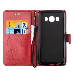 Magicfly PU kožené puzdro pre mobil Samsung Galaxy J1 (2016) - červené - 4