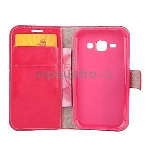 Peňaženkové puzdro Diagonal na Samsung Galaxy J1 - rose/čierné - 4
