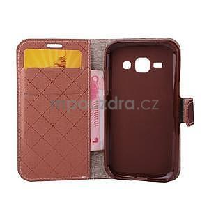 Elegantné puzdro na Samsung Galaxy J1 - hnedé - 4