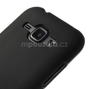 Čierny matný kryt pre Samsung Galaxy J1 - 4