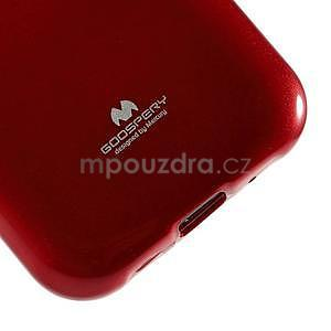 Červený gélový obal pre Samsung Galaxy J1 - 4