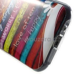 Gélový kryt na Samsung Galaxy J1 - farby dřeva - 4