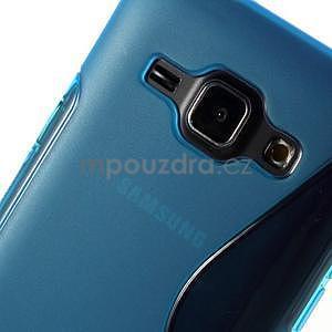 Modrý gélový s-line obal Samsung Galaxy J1 - 4