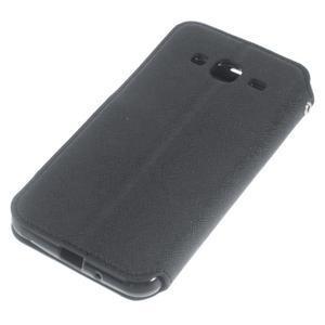 Roar PU kožené puzdro s okienkom pre Samsung Galaxy J3 (2016) - čierne - 4