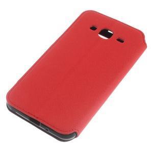 Roar PU kožené puzdro s okienkom pre Samsung Galaxy J3 (2016) - červené - 4