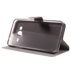 Horse PU kožené penženkové puzdro pre Samsung Galaxy J3 (2016) - hnedé - 4