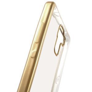 gélový obal se zlatým obvodem pre Samsung Galaxy J3 (2016) - 4