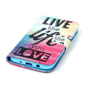 Pictu peněženkové pouzdro na Samsung Galaxy J5 - love - 4