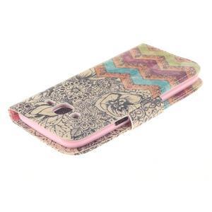 Standy peněženkové pouzdro na Samsung Galaxy J5 - retro koláž - 4