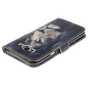 Standy peňaženkové puzdro pre Samsung Galaxy J5 - lev - 4