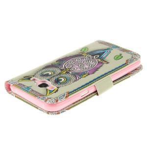 Standy peňaženkové puzdro pre Samsung Galaxy J5 - sova - 4