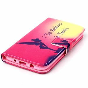 Pictu peňaženkové puzdro pre Samsung Galaxy J5 - víla - 4
