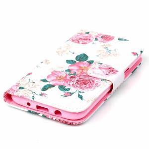 Pictu peňaženkové puzdro pre Samsung Galaxy J5 - kvety - 4