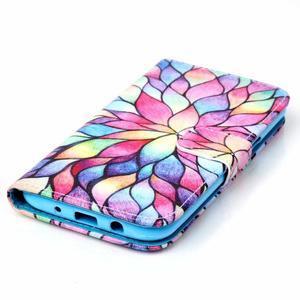 Pictu peňaženkové puzdro pre Samsung Galaxy J5 - farebné lístky - 4