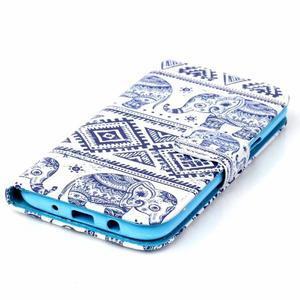 Pictu peněženkové pouzdro na Samsung Galaxy J5 - sloni - 4