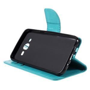 Peňaženkové puzdro pre mobil Samsung Galaxy J5 - modré - 4