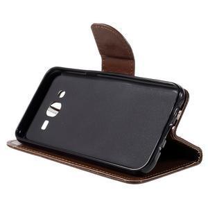 Peňaženkové puzdro pre mobil Samsung Galaxy J5 - hnedé - 4