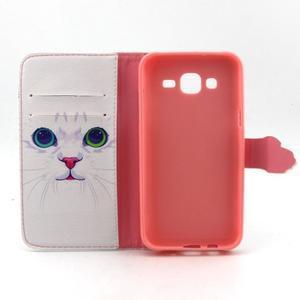 Knížkové puzdro pre mobil Samsung Galax J5 - mačička - 4