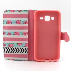 Knížkové pouzdro na mobil Samsung Galax J5 - růže - 4