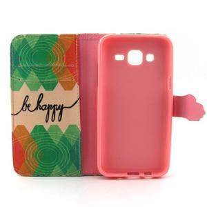 Knížkové puzdro pre mobil Samsung Galax J5 - be happy - 4
