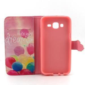 Knížkové pouzdro na mobil Samsung Galax J5 - balónky - 4