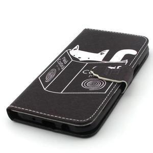 Knížkové puzdro pre mobil Samsung Galax J5 - mačka čte - 4