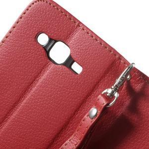 Leaf peňaženkové puzdro pre Samsung Galaxy J5 - červené - 4