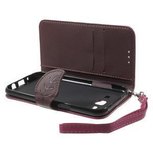 Leaf peňaženkové puzdro pre Samsung Galaxy J5 - rose - 4
