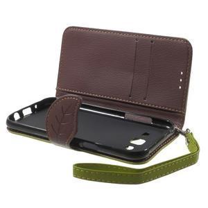 Leaf peňaženkové puzdro pre Samsung Galaxy J5 - zelené - 4