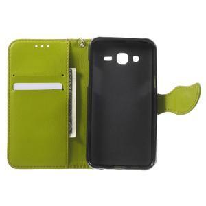 Leaf peňaženkové puzdro pre Samsung Galaxy J5 - hnedé - 4