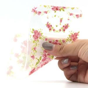 Ultratenký slim gelový obal na Samsung Galaxy J5 - květiny - 4