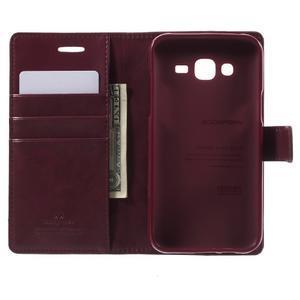 Mercury PU kožené puzdro pre mobil Samsung Galaxy J5 - vinové - 4