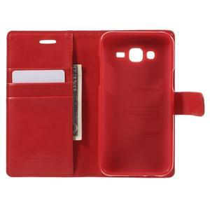 Mercury PU kožené puzdro pre mobil Samsung Galaxy J5 - červené - 4