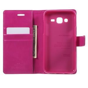 Mercury PU kožené puzdro pre mobil Samsung Galaxy J5 - rose - 4