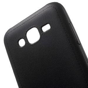 Texturový gelový obal na Samsung Galaxy J5 - černý - 4