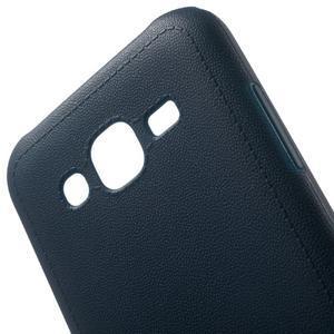 Texturový gelový obal na Samsung Galaxy J5 - tmavěmodrý - 4