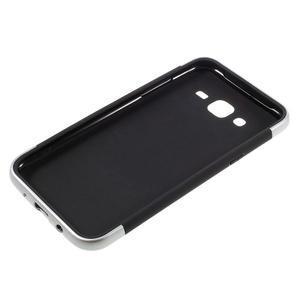 Odolný obal na mobil Samsung Galaxy J5 - stříbrný - 4
