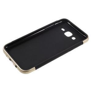 Odolný obal pre mobil Samsung Galaxy J5 - zlatý - 4